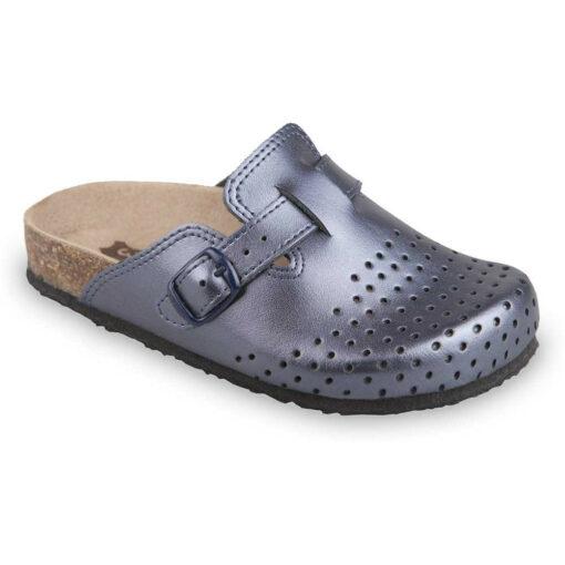 RIM kožené dětské uzavřené papuče (27-35)