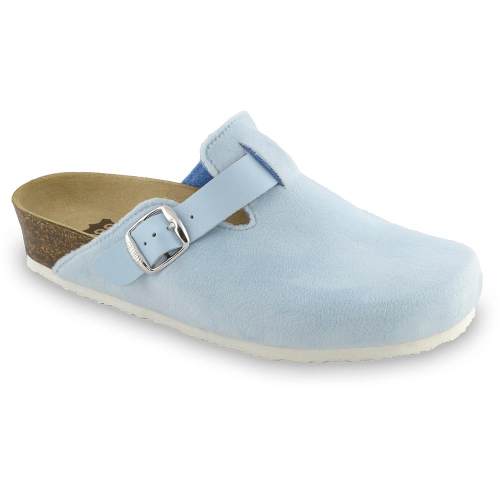 RIM domácí zimní obuv pro dámy - plyš (36-42) - bleděmodrá, 41