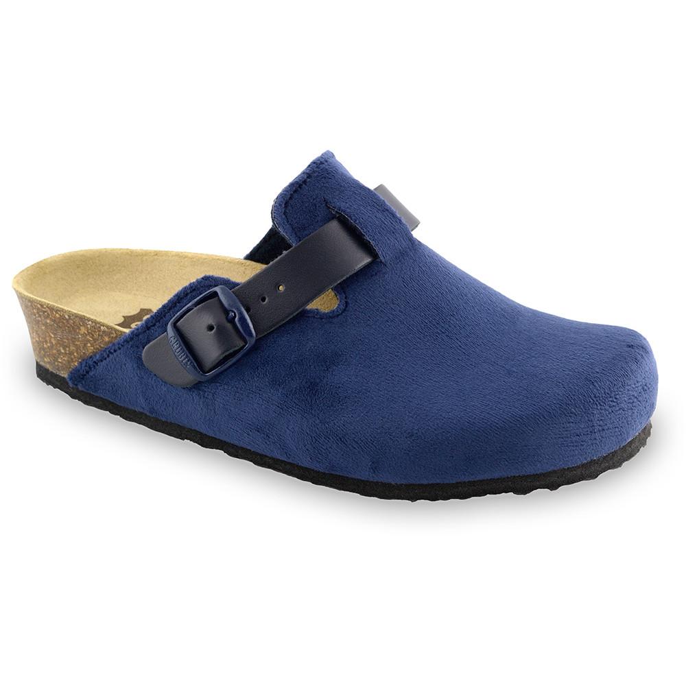 RIM domácí zimní obuv pro dámy - plyš (36-42) - modrá, 36
