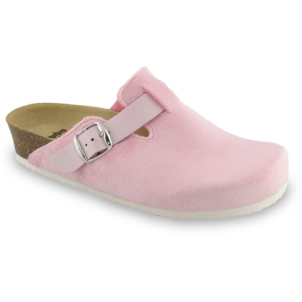 RIM domácí zimní obuv pro dámy - plyš (36-42) - světlerůžová, 41