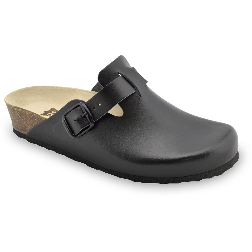 RIM kožené dámské uzavřené papuče (36-42) - černá, 41