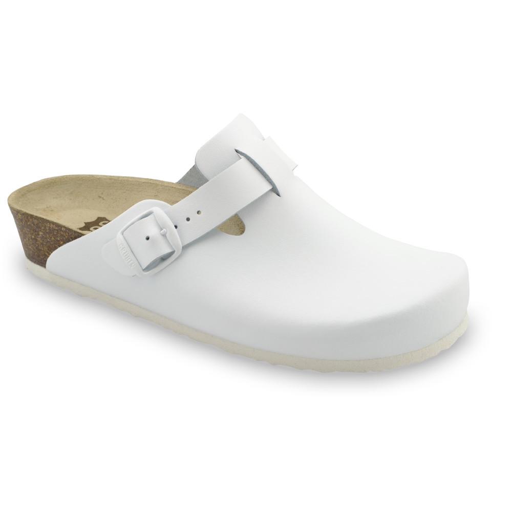 RIM kožené dámské uzavřené papuče (36-42) - bílá, 41