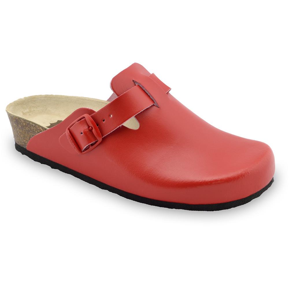RIM kožené dámské uzavřené papuče (36-42) - červená, 38