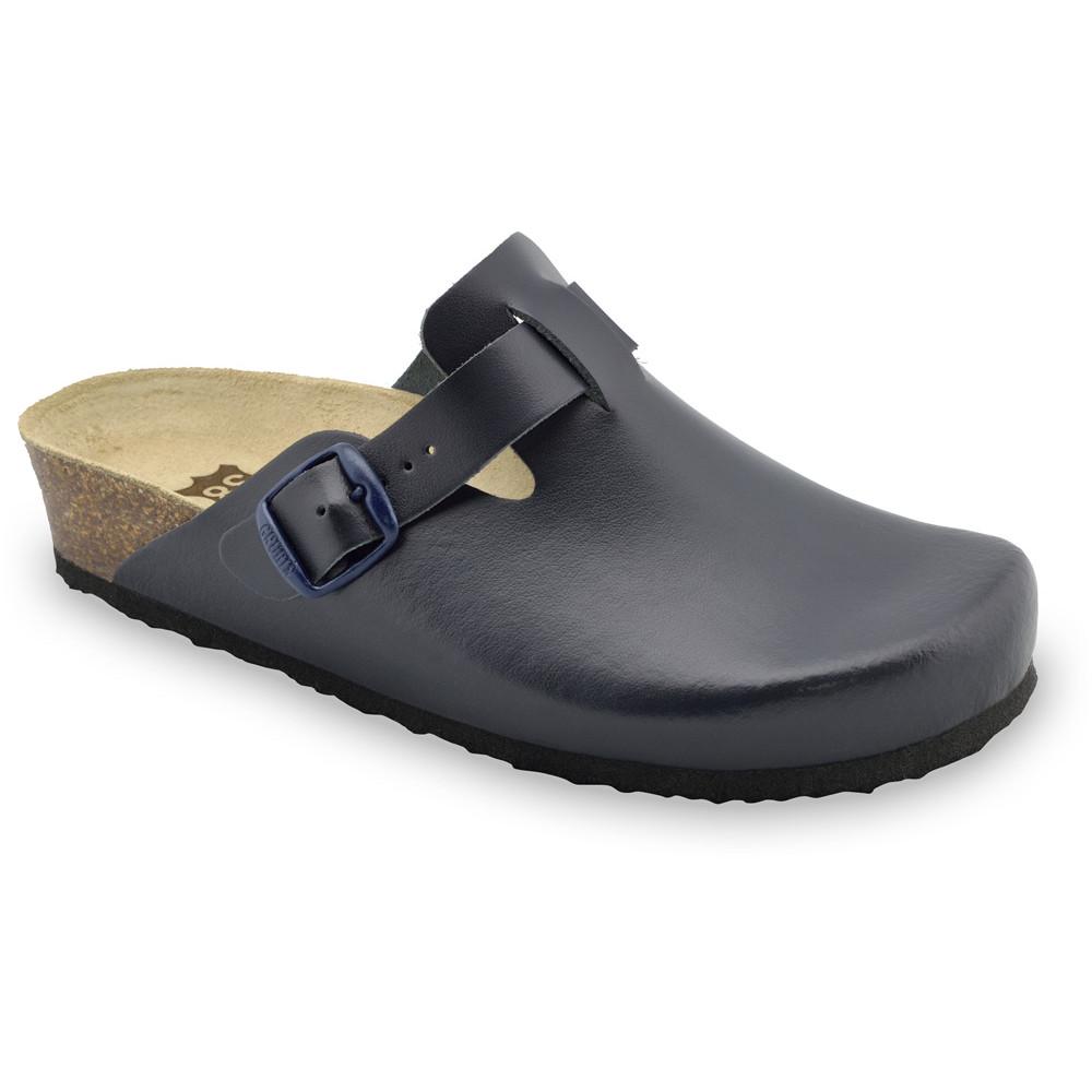 RIM kožené dámské uzavřené papuče (36-42) - modrámat, 42