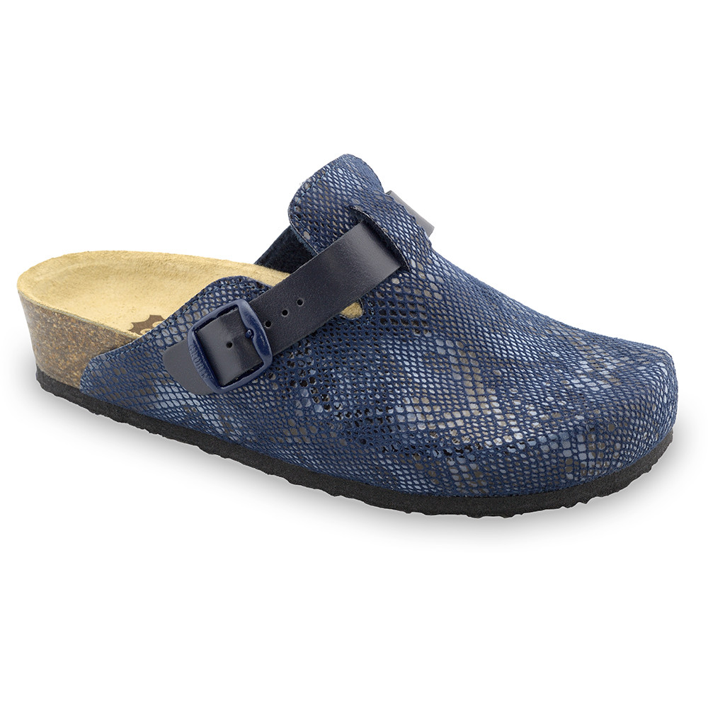 RIM domácí zimní obuv pro dámy - plyš (36-42) - modrá, 37