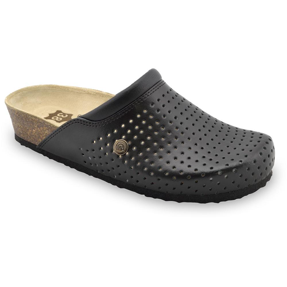 BEOGRAD kožené dámské uzavřené papuče (36-42) - černá, 40