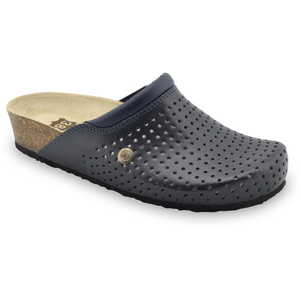 BEOGRAD kožené dámské uzavřené papuče (36-42) - modrá, 41