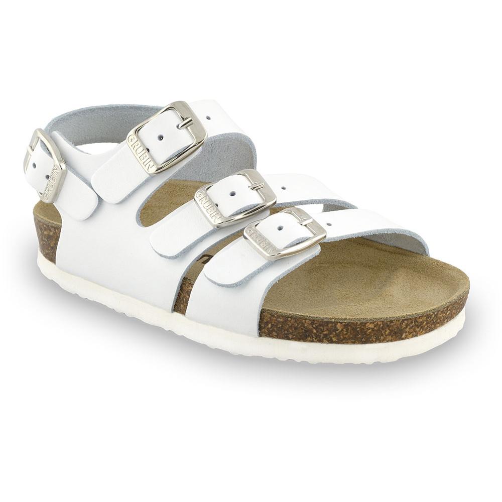 CAMBERA kožené dětské sandály (23-29) - bílá, 26