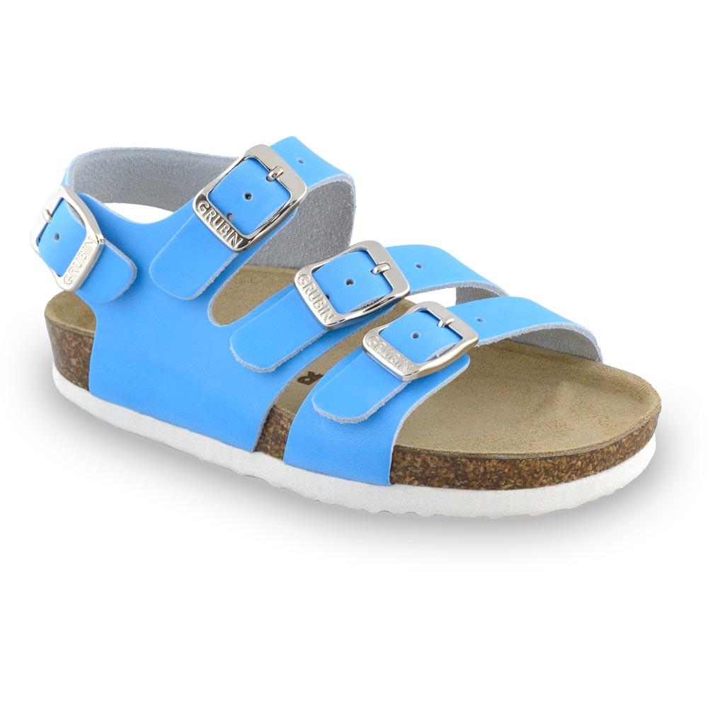 CAMBERA kožené dětské sandály (23-29) - bleděmodrá, 24