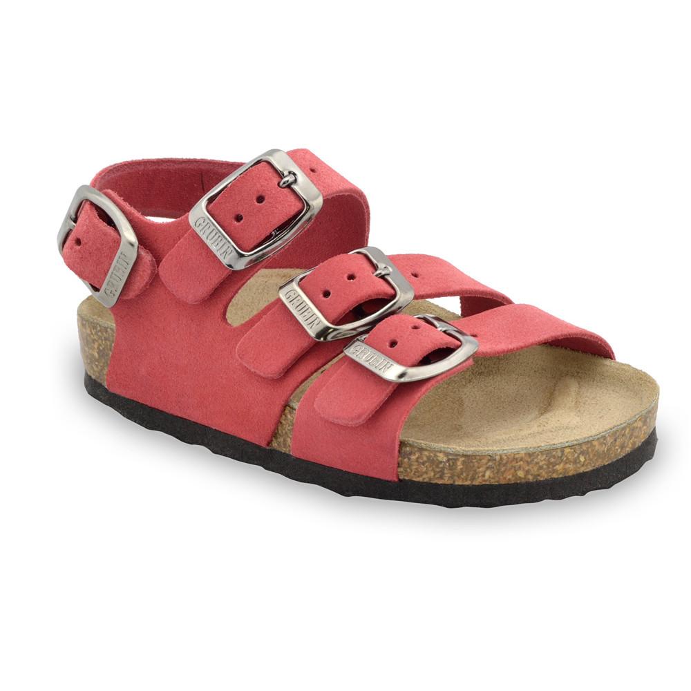 CAMBERA kožené dětské sandály (23-29) - červená, 28