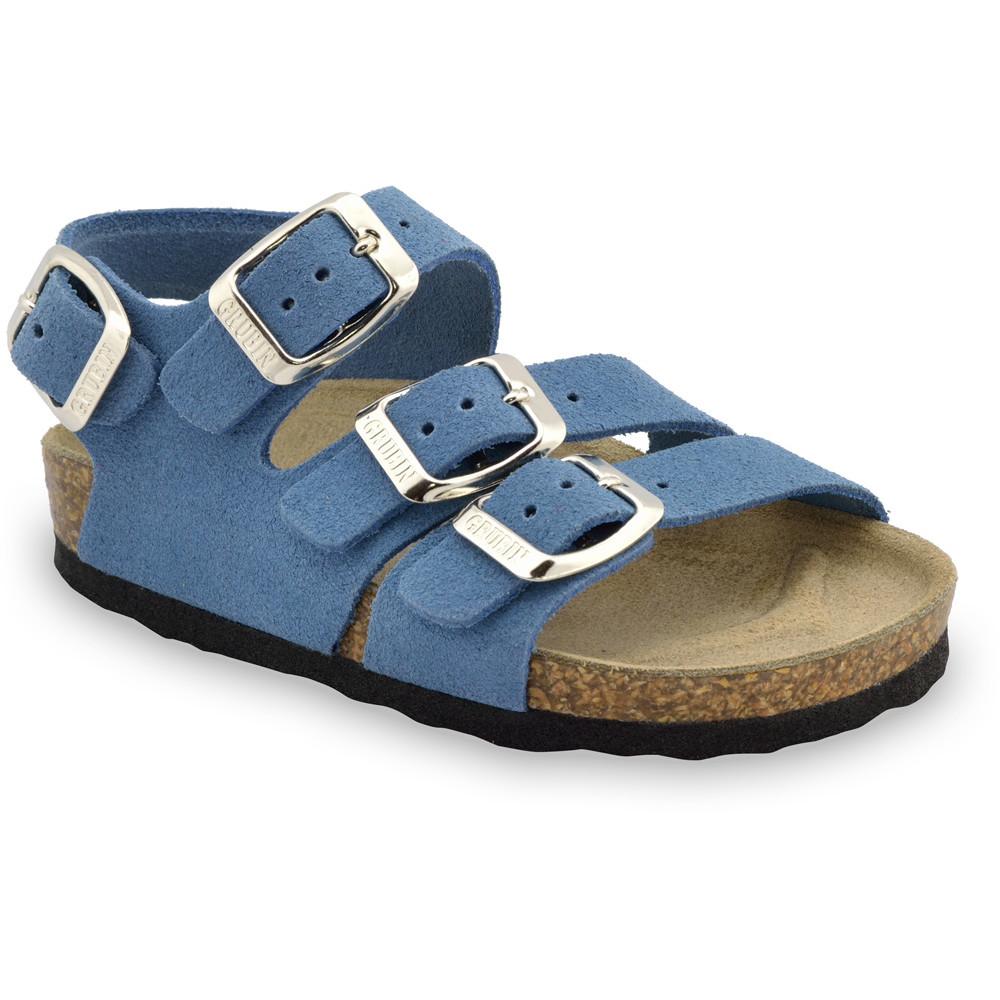 CAMBERA kožené dětské sandály (23-29) - modrá, 24