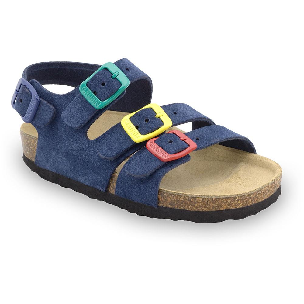 CAMBERA kožené dětské sandály (23-29) - modrámat, 28