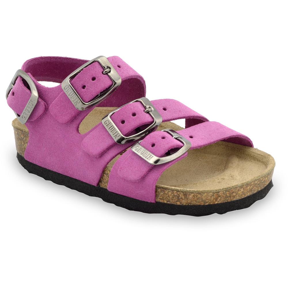 CAMBERA kožené dětské sandály (23-29) - ružová, 27