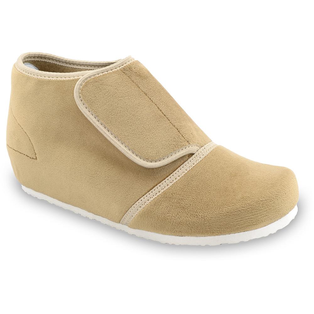 BAJKA domácí zimní obuv pro dámy - plyš (36-42) - světlehnědá, 37