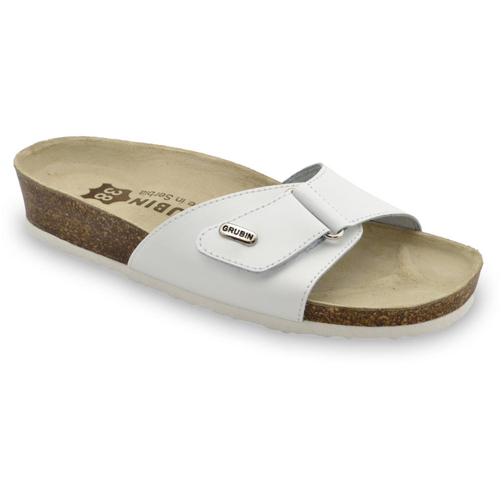 BRIGITTE kožené dámské pantofle (36-42) - bílá, 41