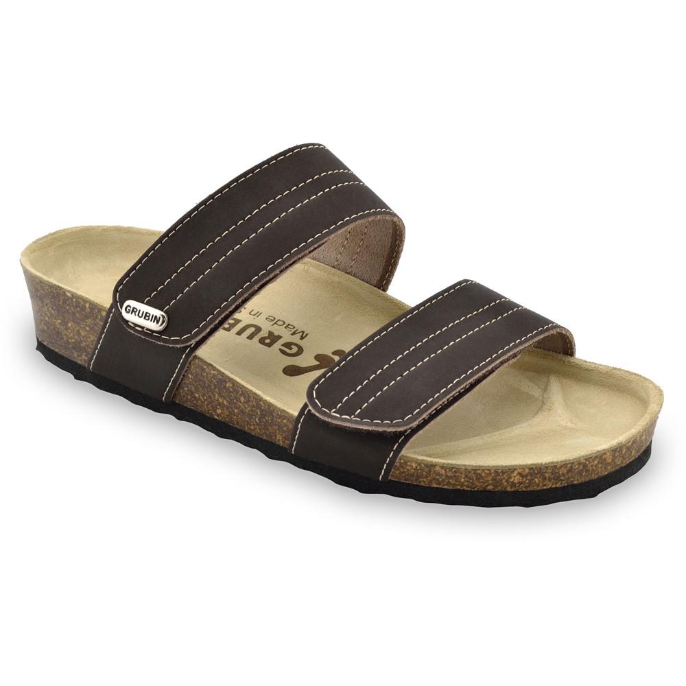 MALTA pantofle pro dámy - kůže (36-42) - hnědá, 40