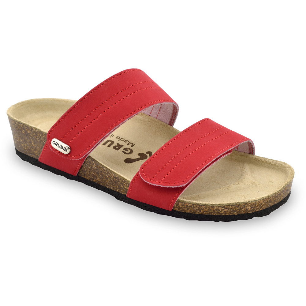 MALTA pantofle pro dámy - kůže (36-42) - červená, 37