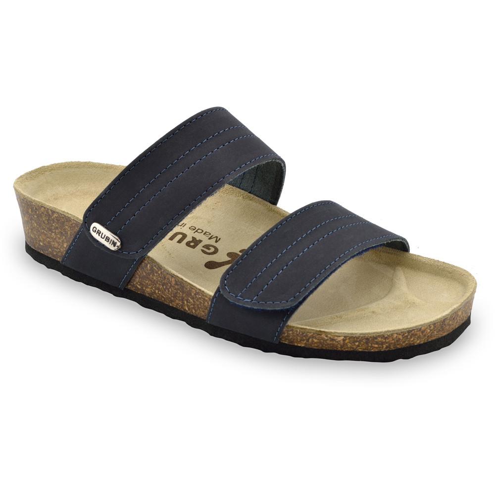 MALTA pantofle pro dámy - kůže (36-42) - modrosivá, 40