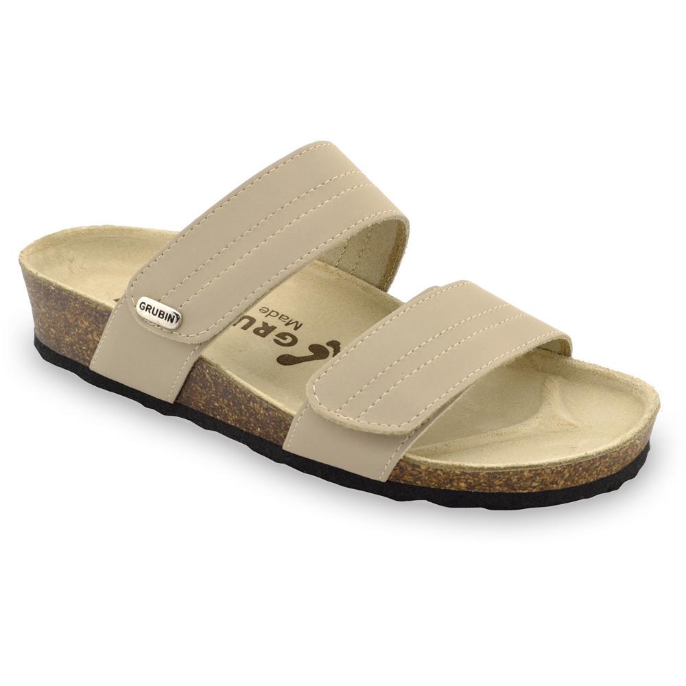 MALTA pantofle pro dámy - kůže (36-42) - krémová, 42