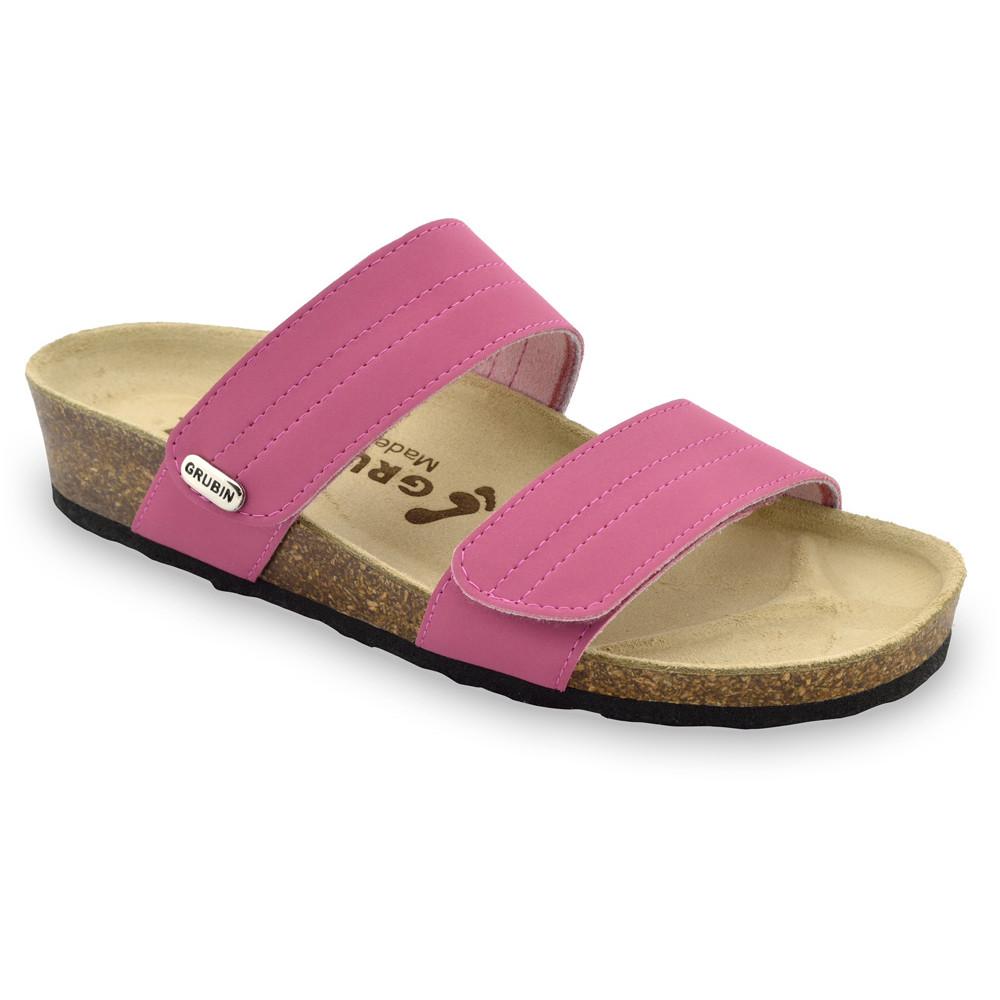 MALTA pantofle pro dámy - kůže (36-42) - ružová, 41