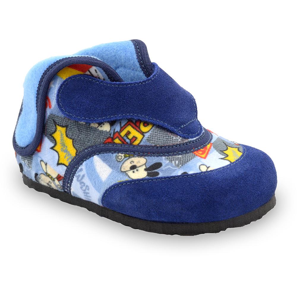 HEART domácí zimní obuv pro děti - plyš (23-30) - bleděmodrá, 27
