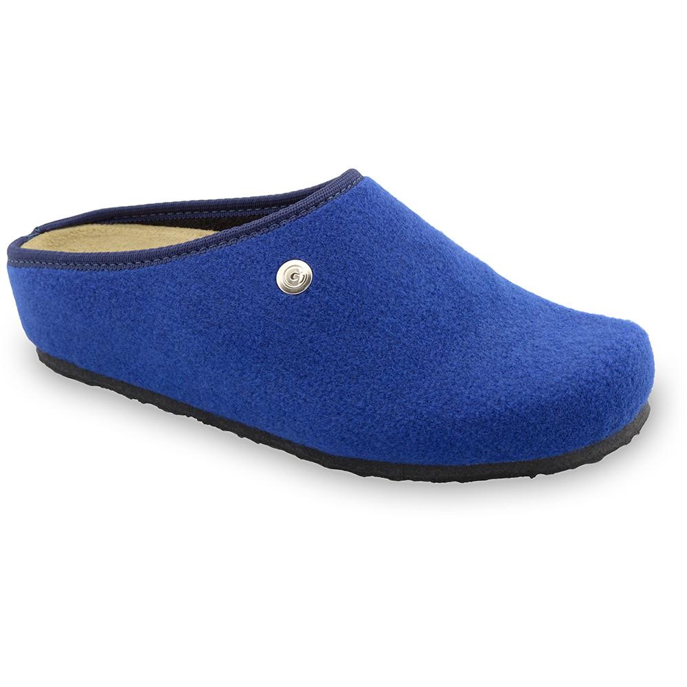 RABBIT domácí zimní obuv pro dámy - plsť (36-42) - modrá, 36