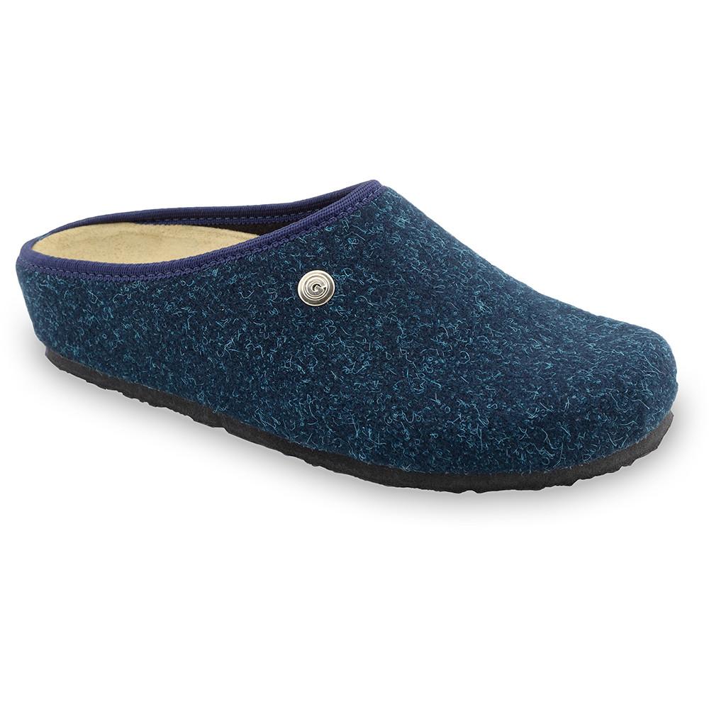 RABBIT domácí zimní obuv pro dámy - plsť (36-42) - modrámat, 42