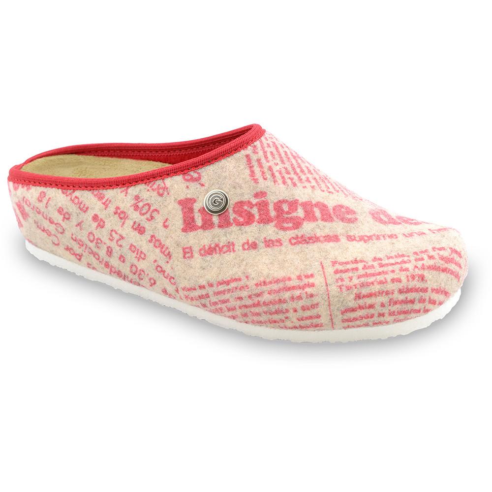 RABBIT domácí zimní obuv pro dámy - plsť (36-42) - vzorová, 38