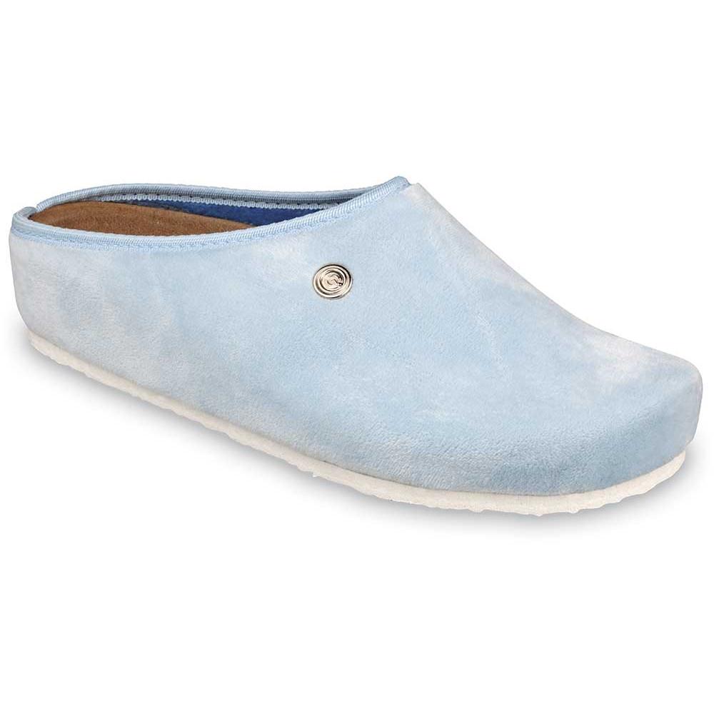 RABBIT domácí zimní obuv pro dámy - plyš (36-42) - bleděmodrá, 36