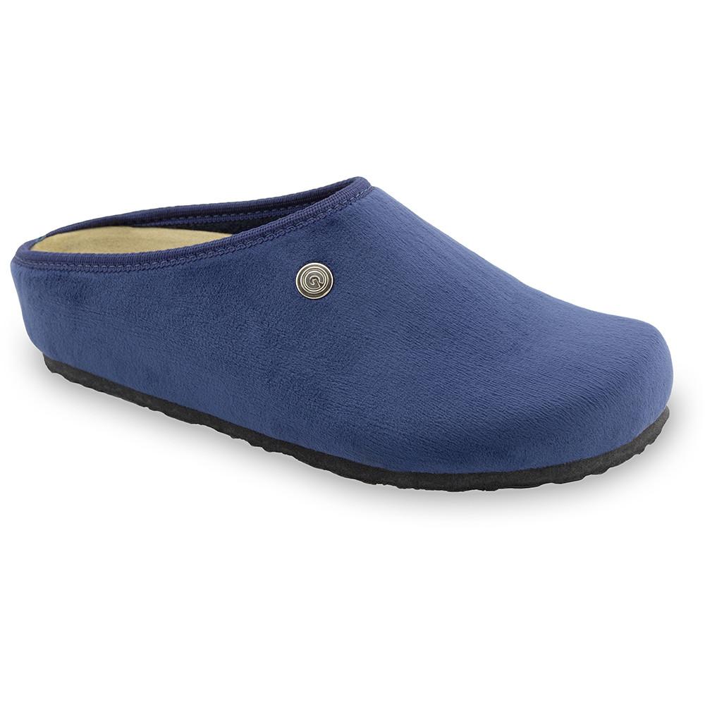 RABBIT domácí zimní obuv pro dámy - plyš (36-42) - modrá, 36