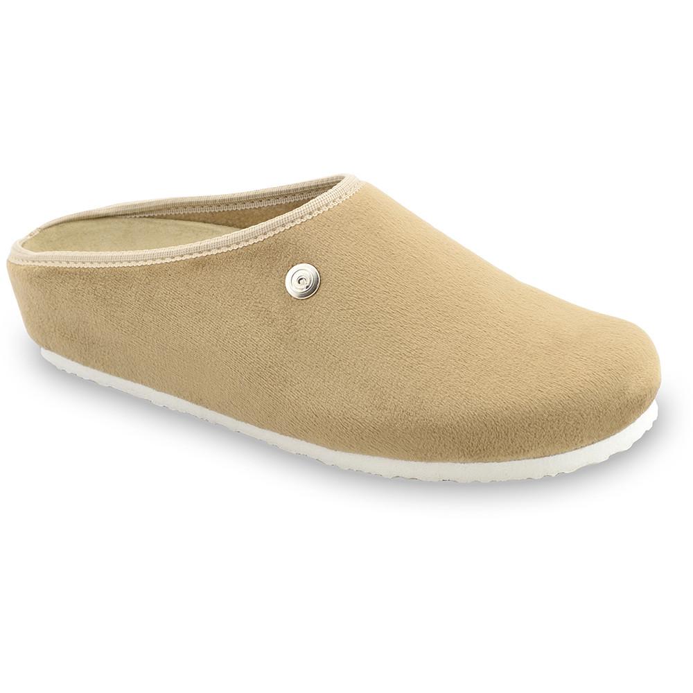 RABBIT domácí zimní obuv pro dámy - plyš (36-42) - hnědá, 41
