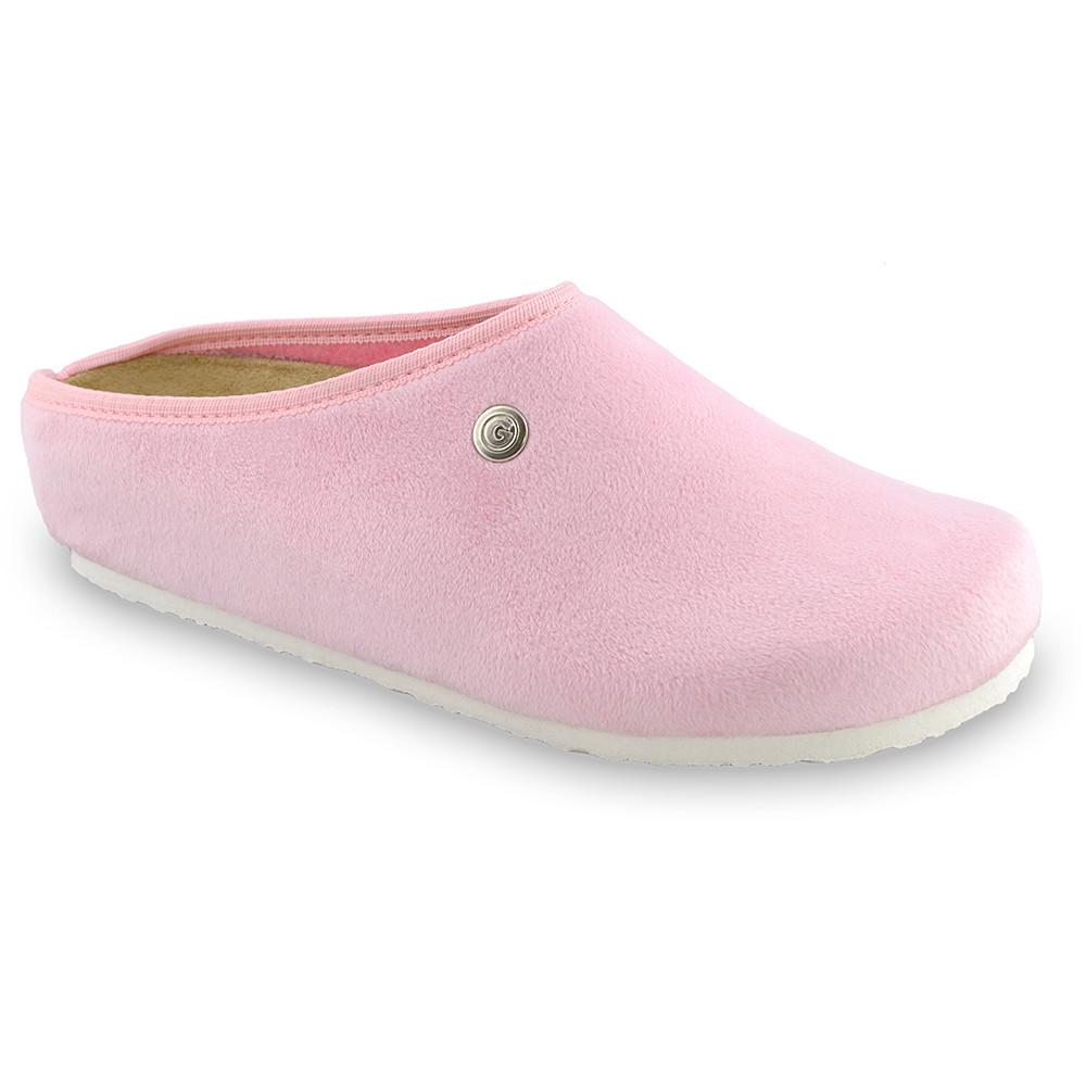RABBIT domácí zimní obuv pro dámy - plyš (36-42) - světlerůžová, 41