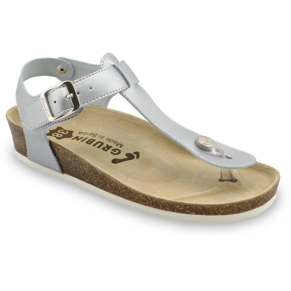 TOBAGO sandály s oporou palce pro dámy - kůže kast (36-42)