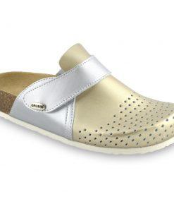 OREGON papuče uzavřené pro dámy - kůže kast (36-42)