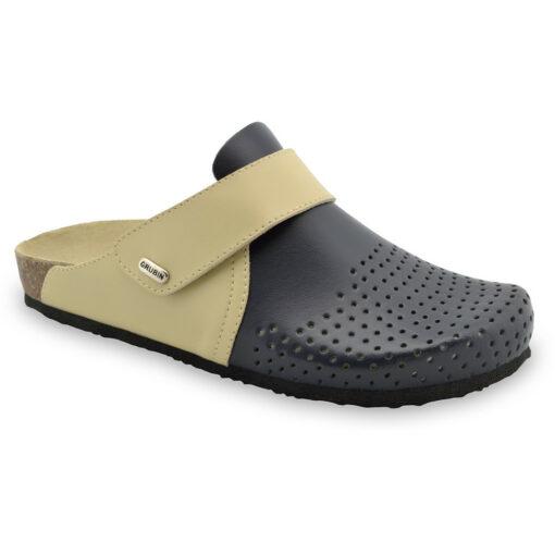 OREGON papuče uzavřené pro pány - kůže (40-49)