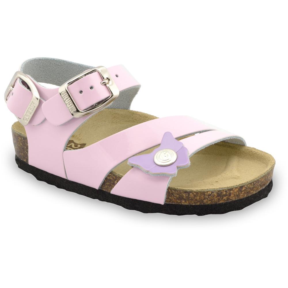 KATY sandály pro děti - kůže (23-29) - ružová, 24