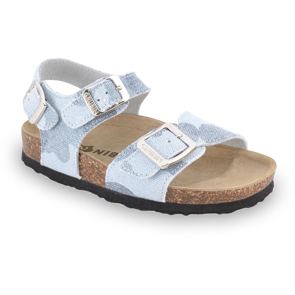 ROBY sandály pro děti - tkanina (23-29) - bleděmodrá, 26