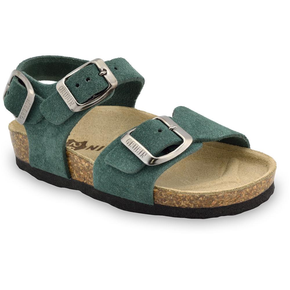 ROBY kožené dětské sandály-velur (23-29)
