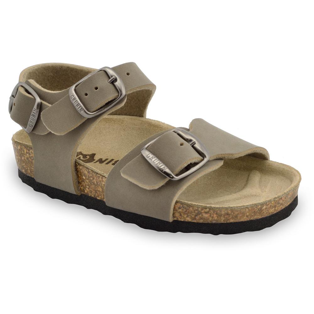 ROBY sandály pro děti - koženka (30-35) - hnědá, 31