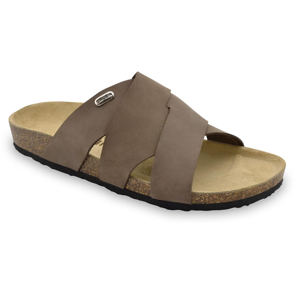 MORANDI pantofle pro pány - kůže nubuk (40-49)