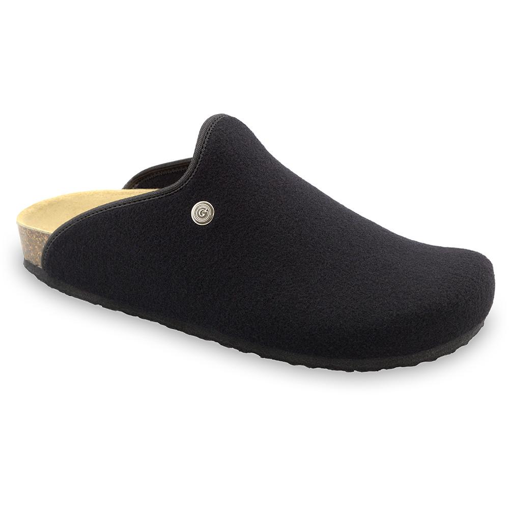 CAKI domácí zimní obuv pro pány - plsť (40-49) - černá, 48