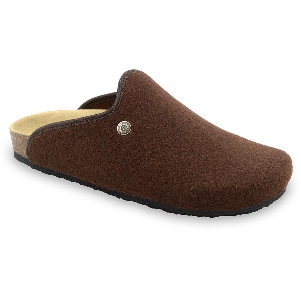 CAKI domácí zimní obuv pro pány - plsť (40-49) - hnědá, 48