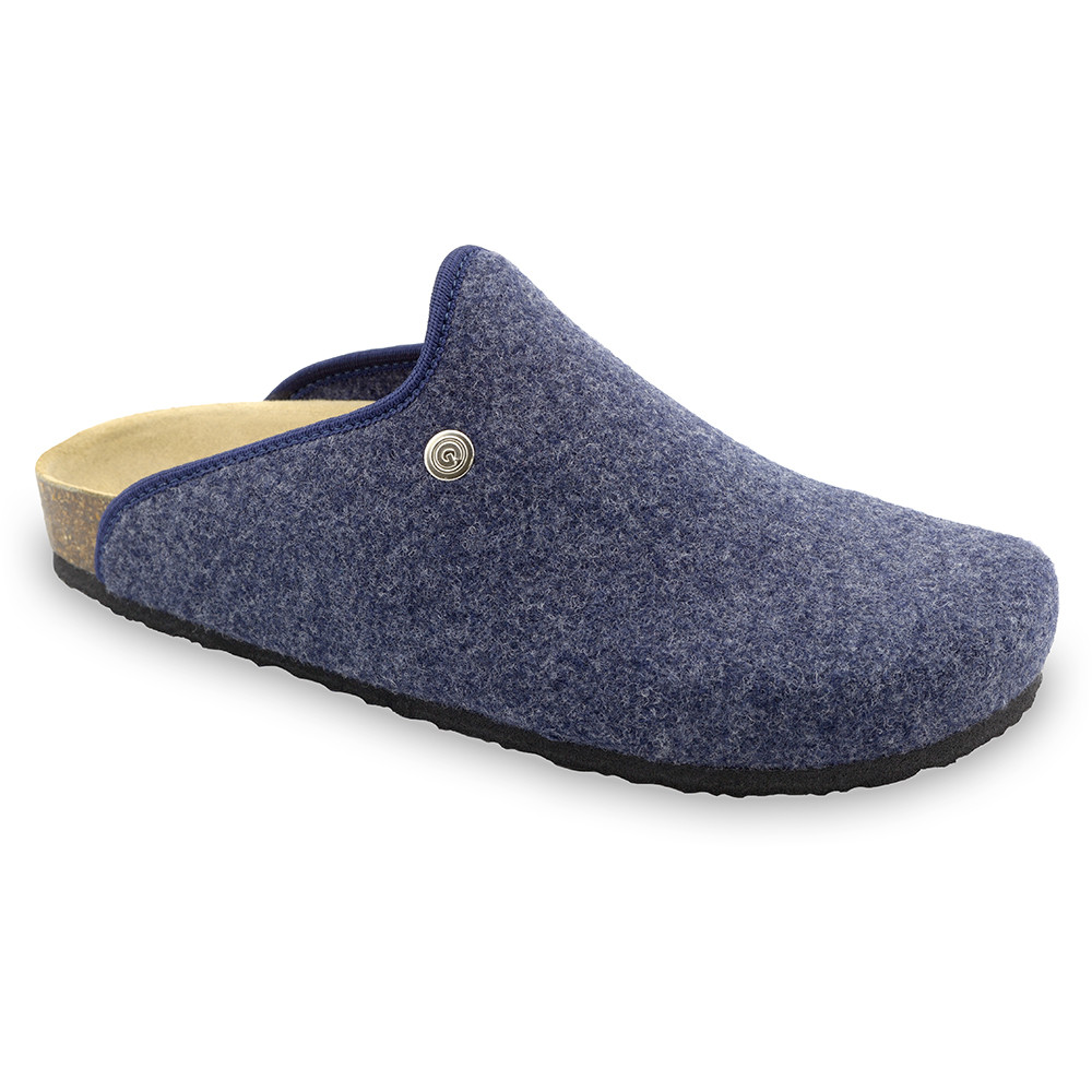 CAKI domácí zimní obuv pro pány - plsť (40-49) - modrá, 47