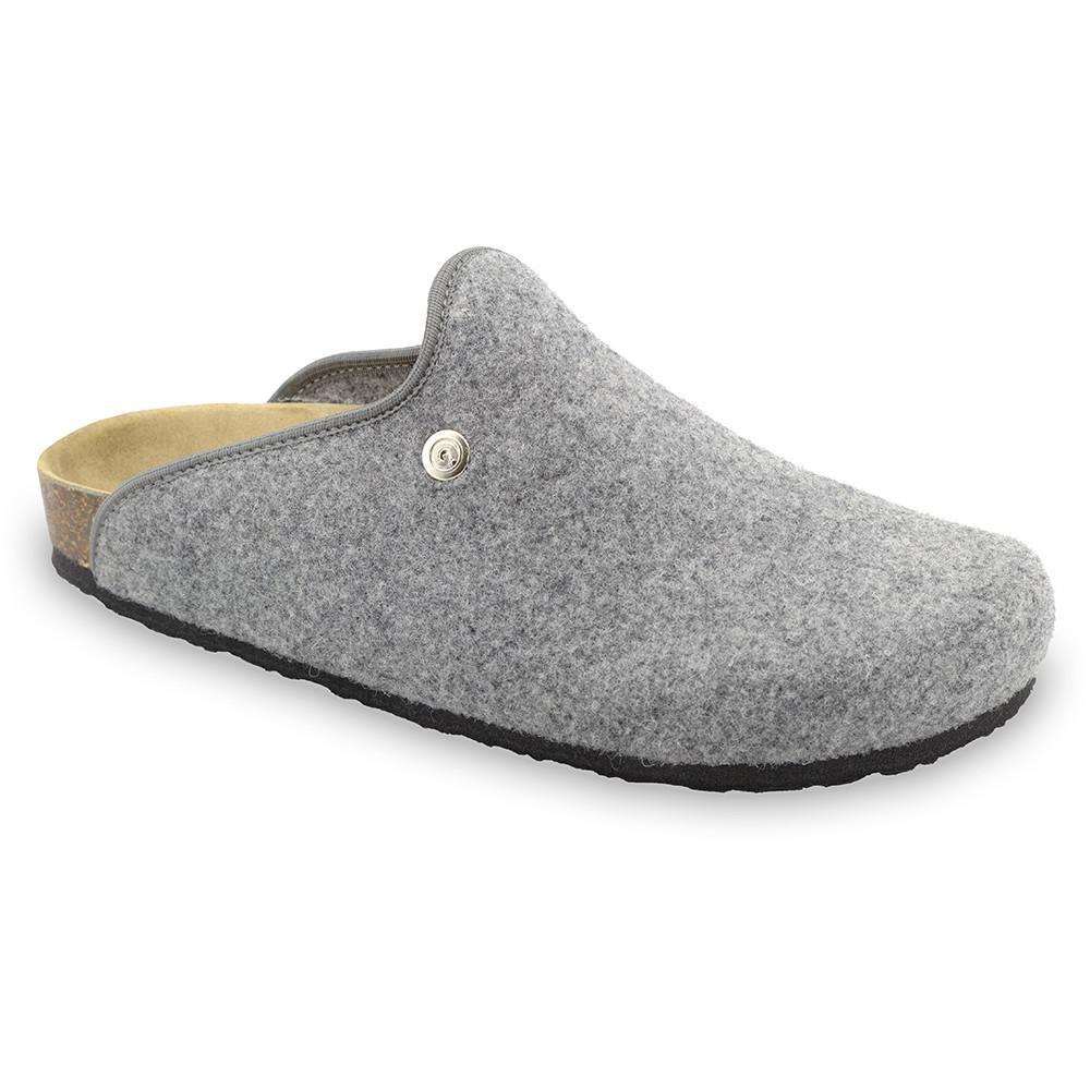 CAKI domácí zimní obuv pro pány - plsť (40-49) - šedá, 49