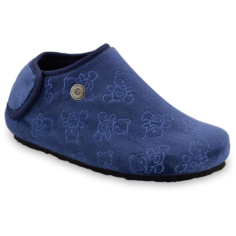 DARIJA domácí zimní obuv pro děti - plyš (30-35) - modrá, 32