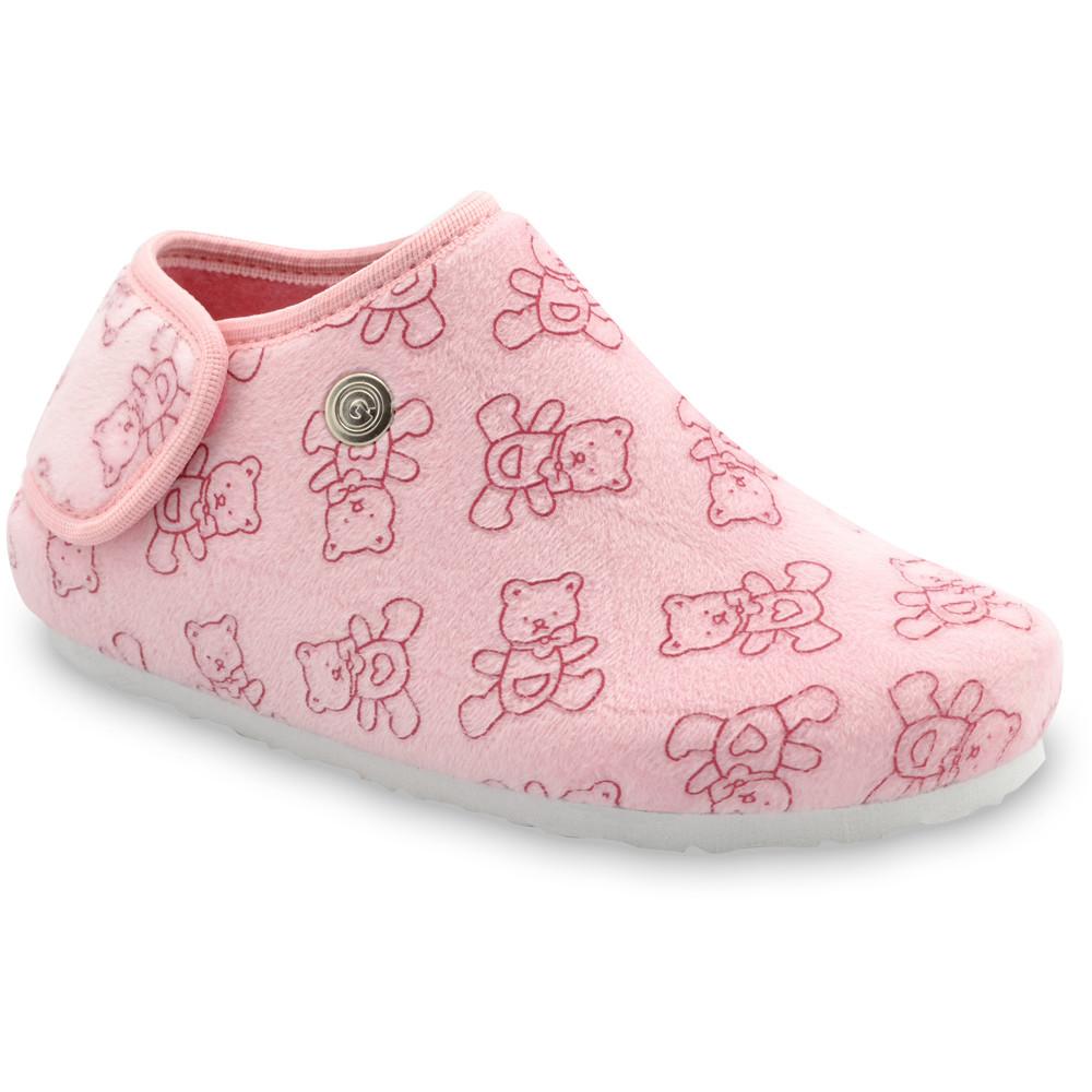 DARIJA domácí zimní obuv pro děti - plyš (30-35) - světlerůžová, 31
