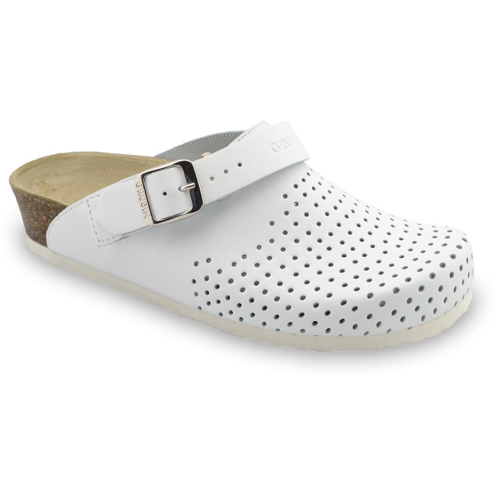 STOCKHOLM kožené dámské uzavřené papuče (36-42) - bílá, 37
