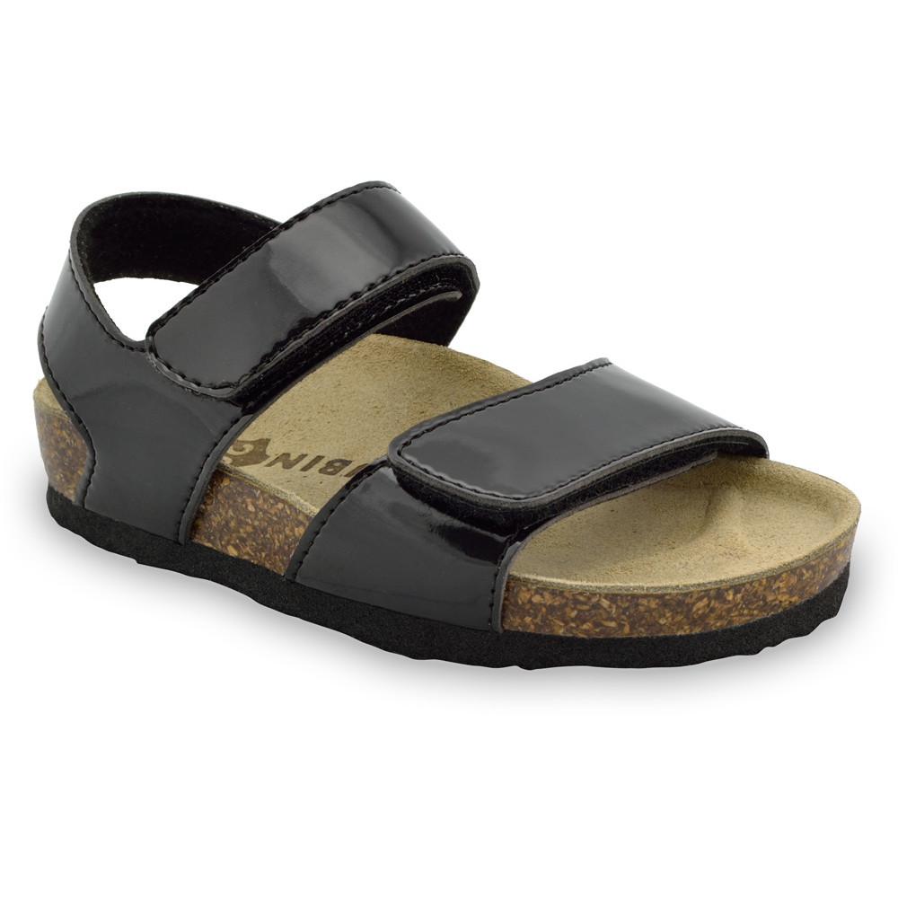 DIONIS sandály pro děti - koženka (23-29) - černá, 27