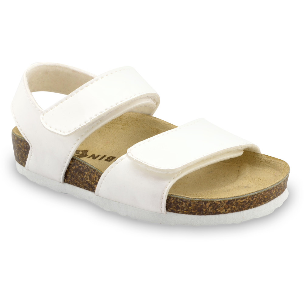 DIONIS sandály pro děti - koženka (23-29) - bílá, 28