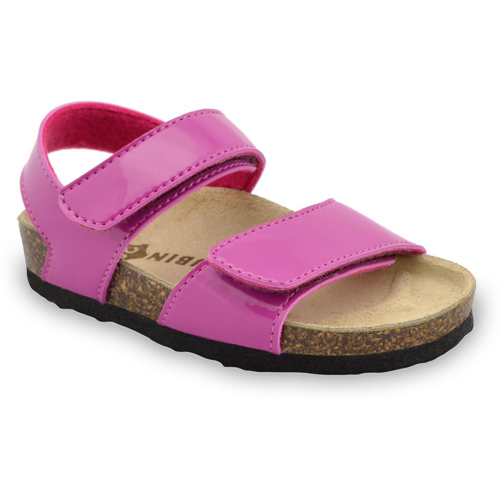 DIONIS sandály pro děti - koženka (23-29) - růžová, 28